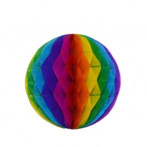 Bola decorativa 20 cm: colmeia de abelha arco-íris