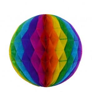Bola decorativa 30 cm: colmeia de abelha arco-íris