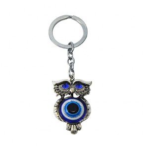 Chaveiro: coruja e olho grego