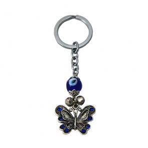 Chaveiro: borboleta e olho grego