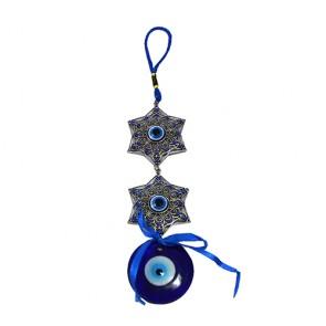 Enfeite de pendurar: estrela e olho grego