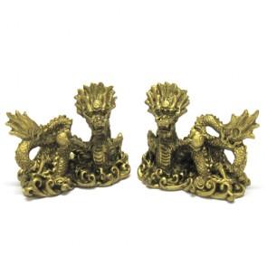 Dragões dourados duas peças casal