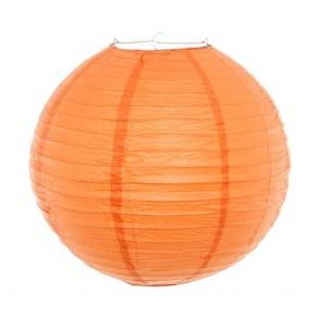 Luminária oriental 40 cm laranja