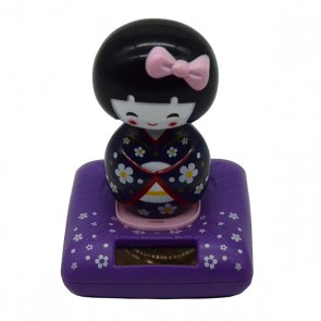 Boneca japonesa Kokeshi solar roxa