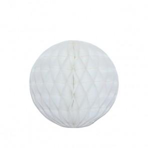 Bola decorativa 20 cm: colmeia de abelha - Branco