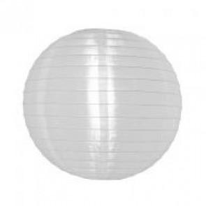 Luminária Oriental de Tecido Branca 30cm