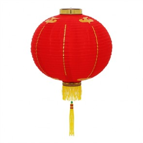 Luminária oriental 35 cm: vermelho