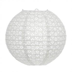 Luminária Oriental Vazada 30cm Branco